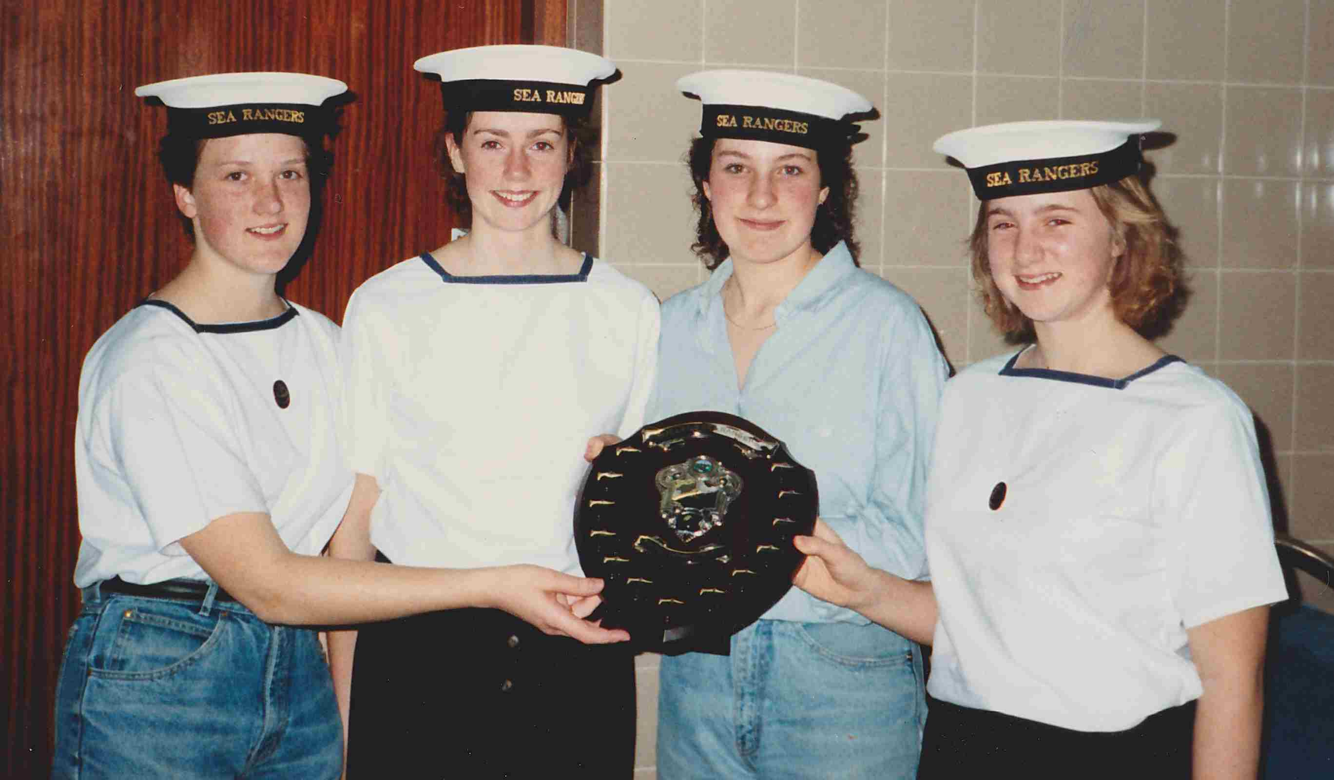 1989 Sea Ranger Swimming Gala - Winning Team with Anita on the left