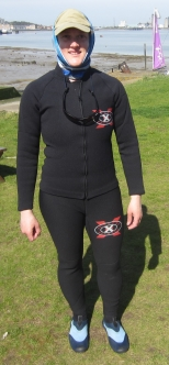 Me wearing a wetsuit bought pre-2001