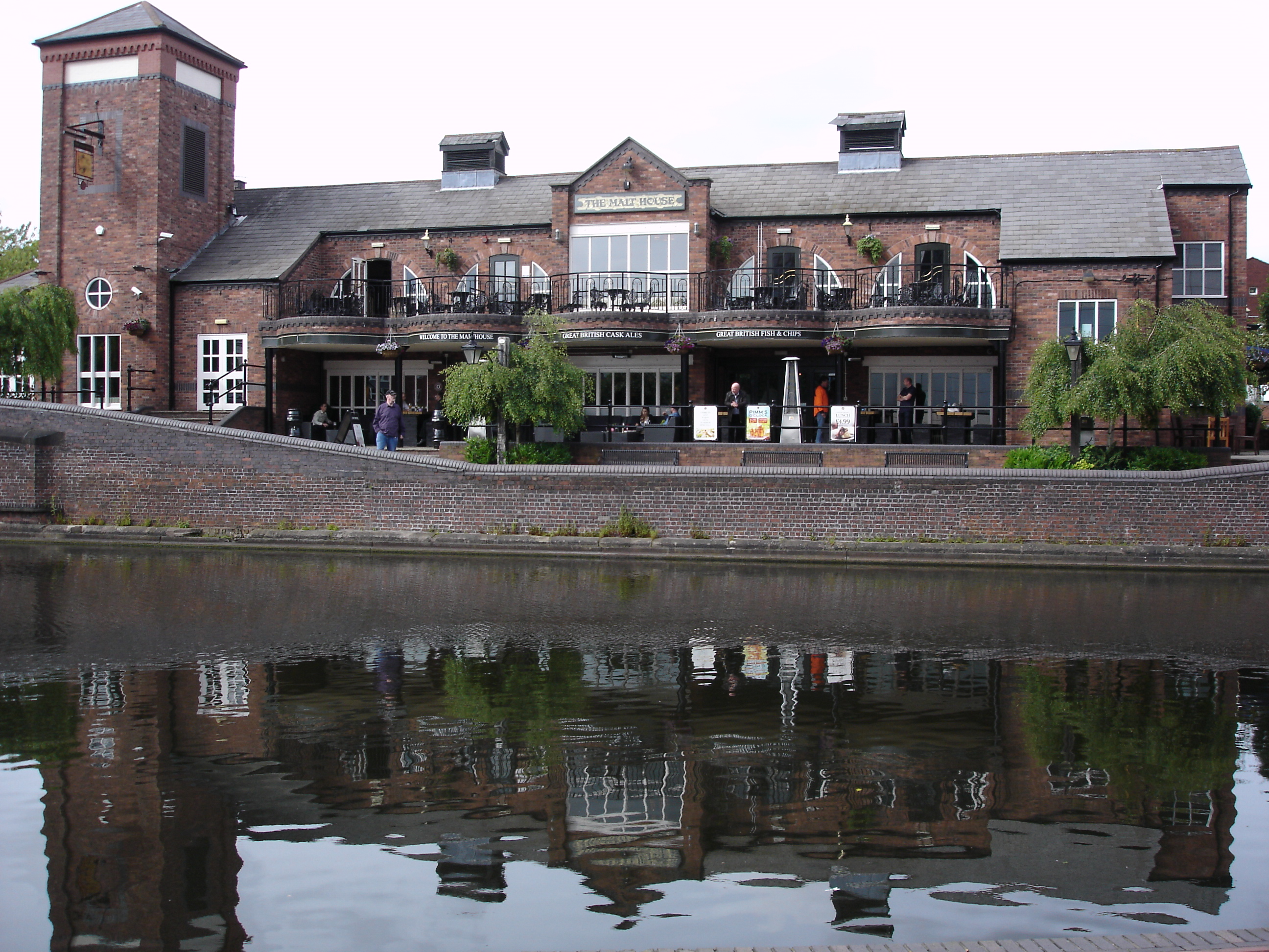 The Malt House with reflection