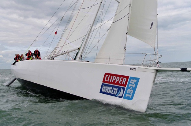Clipper 70 under sail