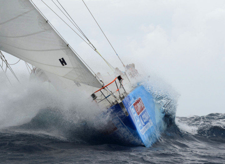De Lage Landen at the start of the race from the Gold Coast to Singapore in the Clipper 11-12 Round the World Yacht Race.