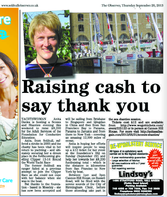 Solihull Observer - Raising cash to say thank you