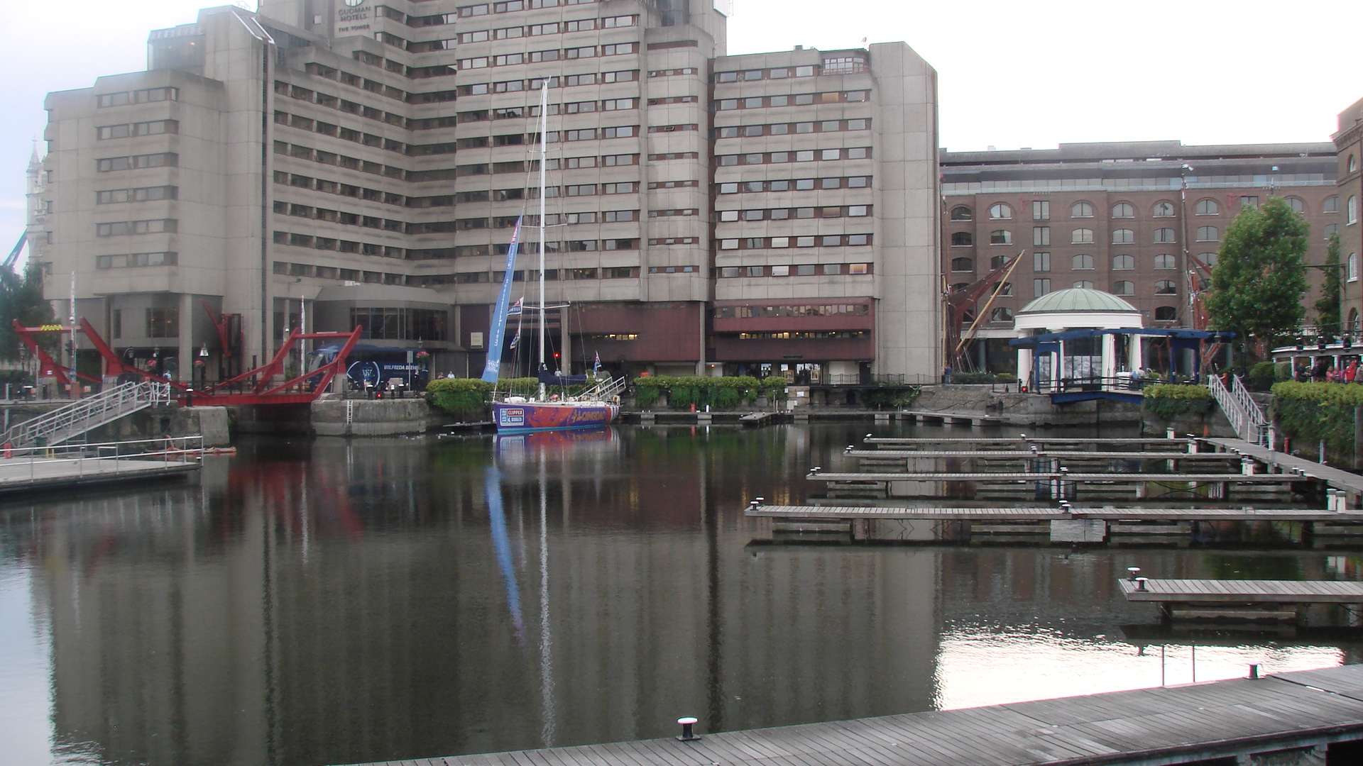Empty St Katharine Docks