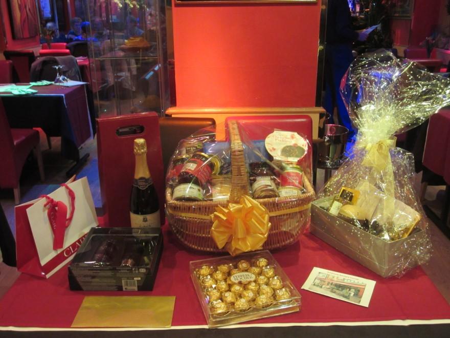 Generously donated raffle prizes