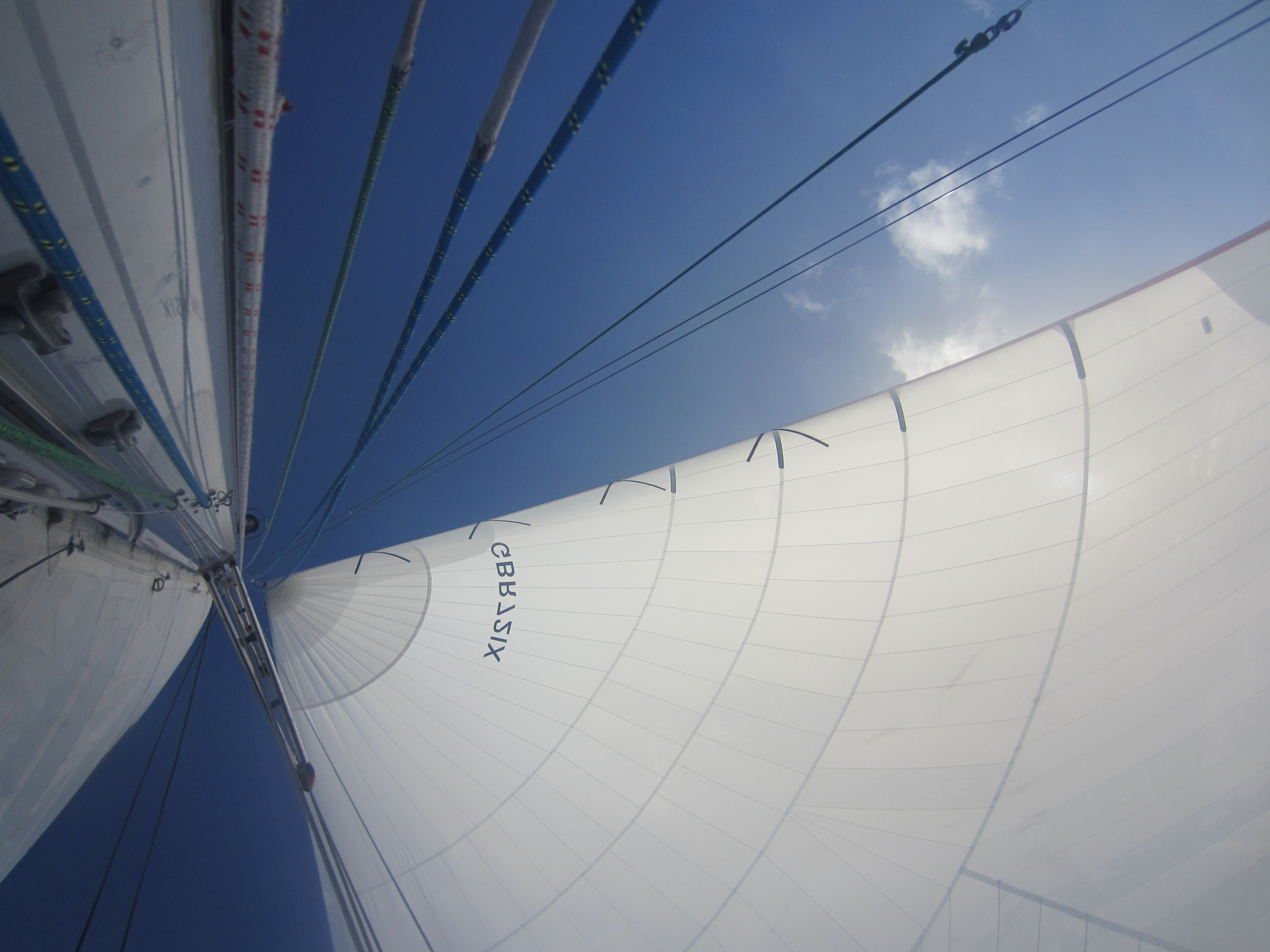 Top of a spinnaker