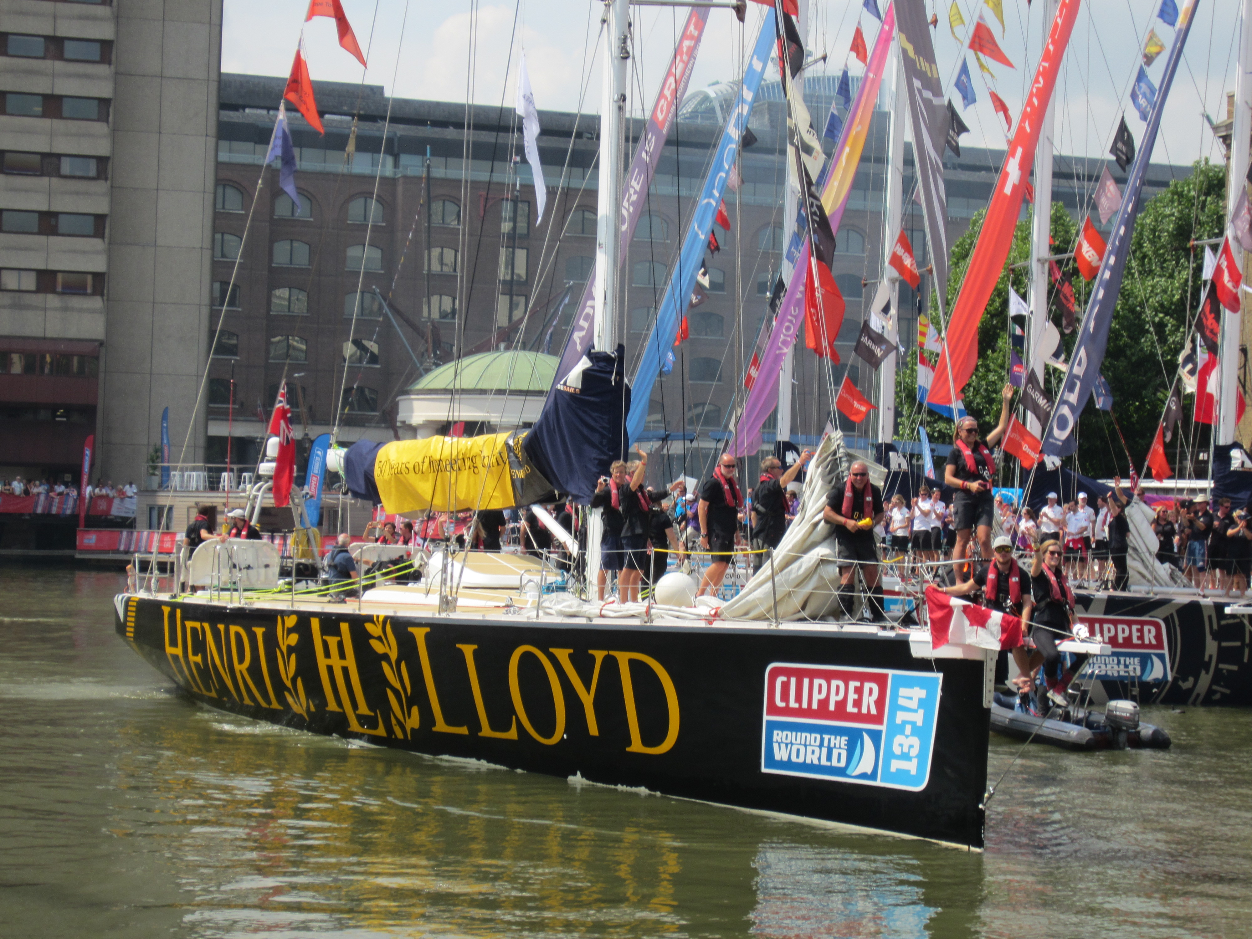 Triumphant return to St Katharine Docks