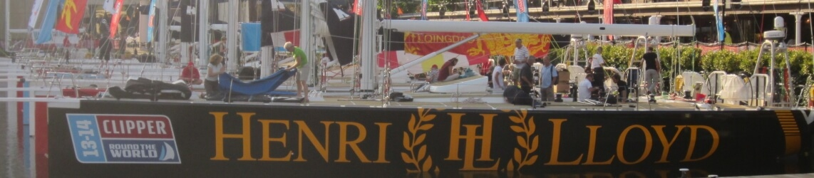Header image: Henri Lloyd in St Katharine Docks before the race start